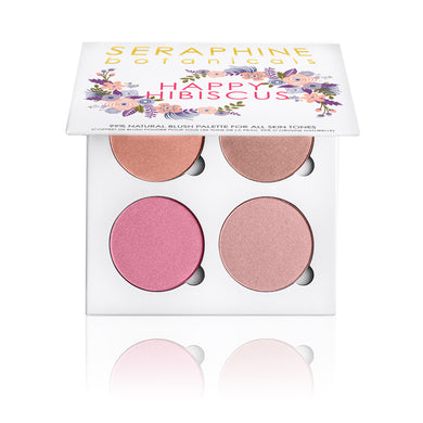 Happy Hibiscus Palette - 99% Natural Blush Blush Palette for All Skin Tones - Nourish Beauty Box