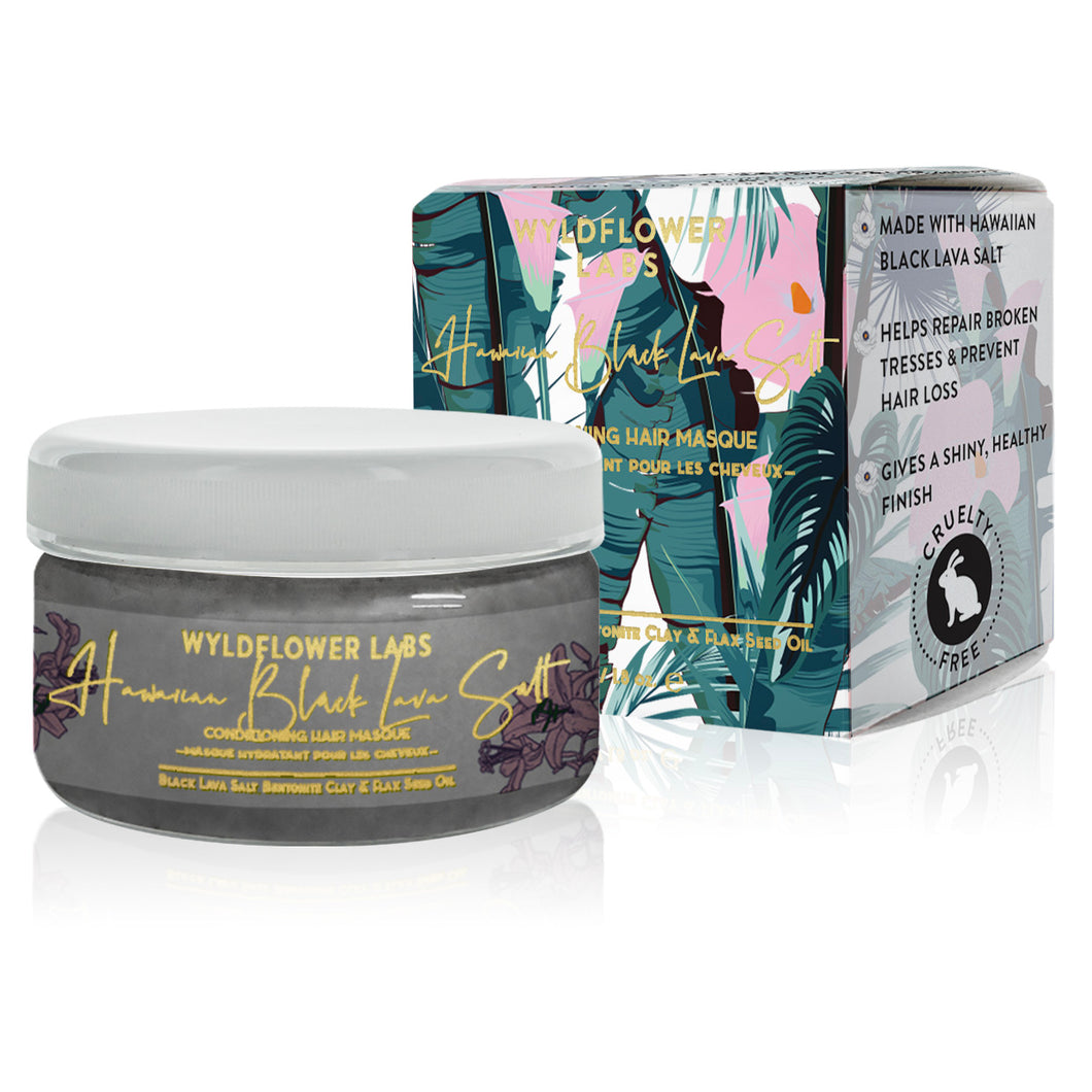 Hawaiian Black Lava Salt - conditioning hair masque - Nourish Beauty Box