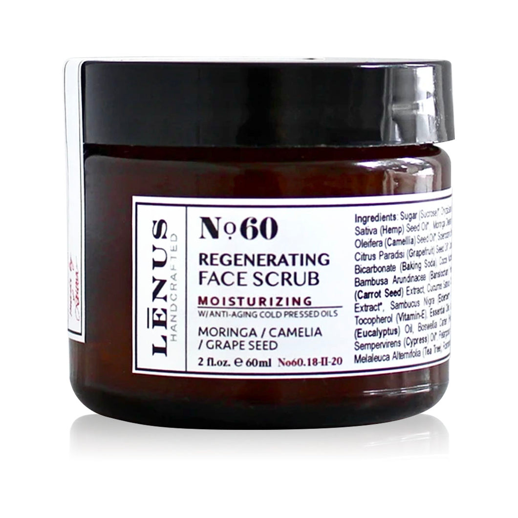 No. 60 Regenerating Face Scrub With Anti-Aging Oils - Nourish Beauty Box