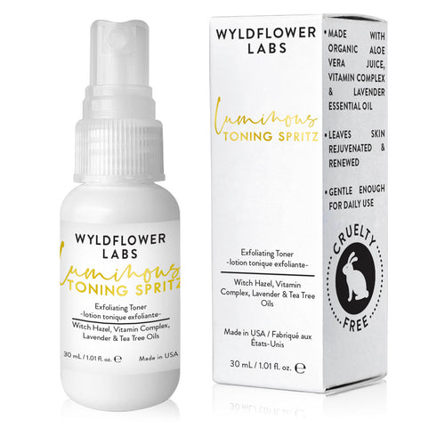 Luminous Toning Spritz - exfoliating toner - Nourish Beauty Box