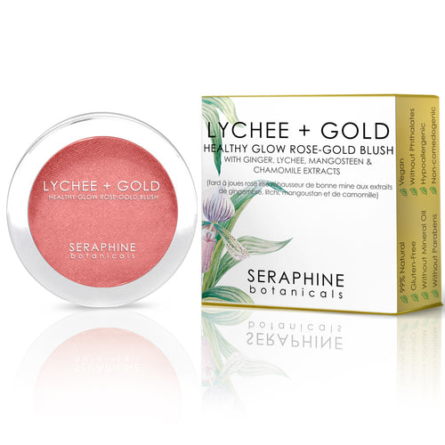 Lychee + Gold - Healthy Glow Rose-Gold Blush - Nourish Beauty Box