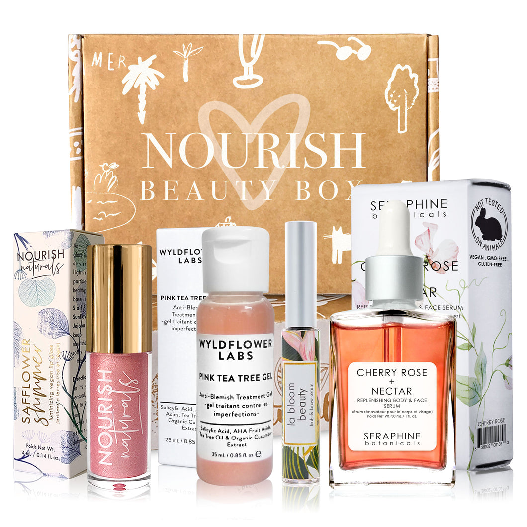 July 2019 box - Nourish Beauty Box