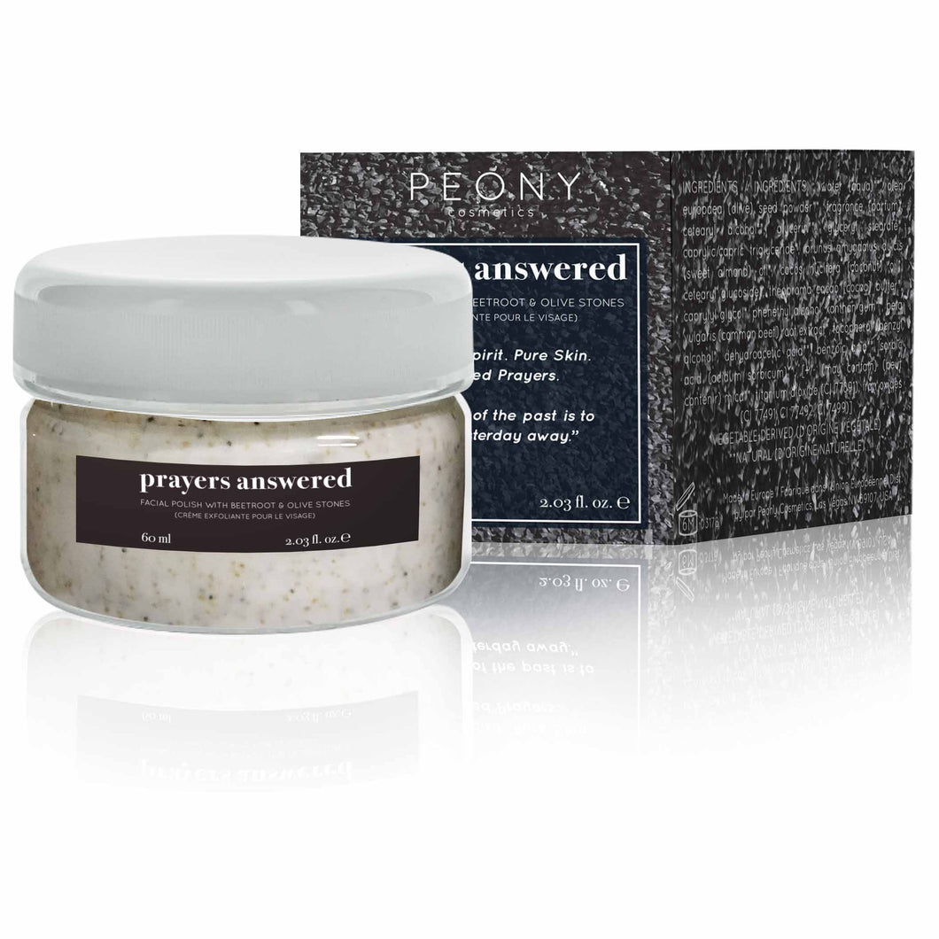 Prayers Answered - Facial Polish With Beetroot & Olive Stones - Nourish Beauty Box