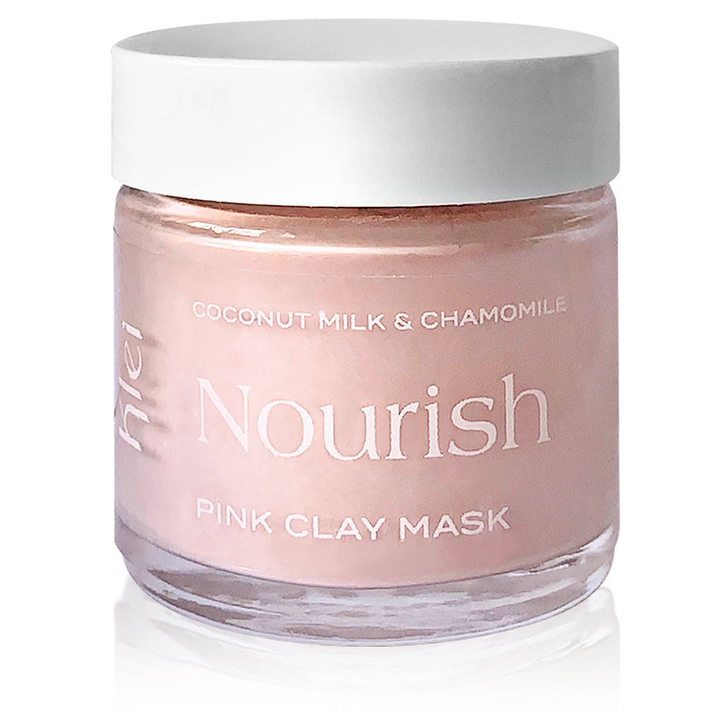 Coconut Milk & Chamomile Nourish Pink Clay Mask - Nourish Beauty Box