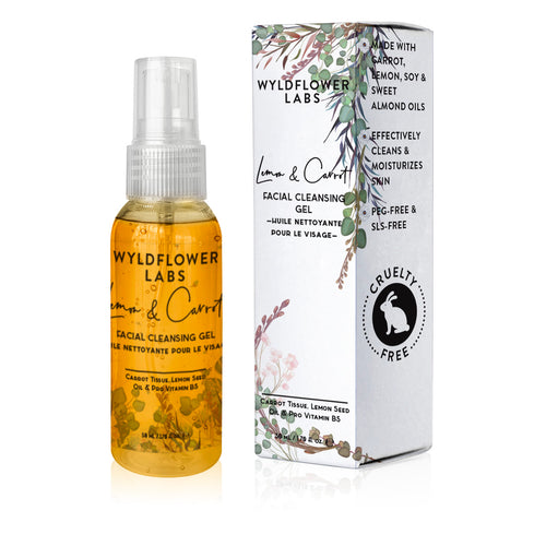 Lemon & Carrot - facial cleansing oil - Nourish Beauty Box