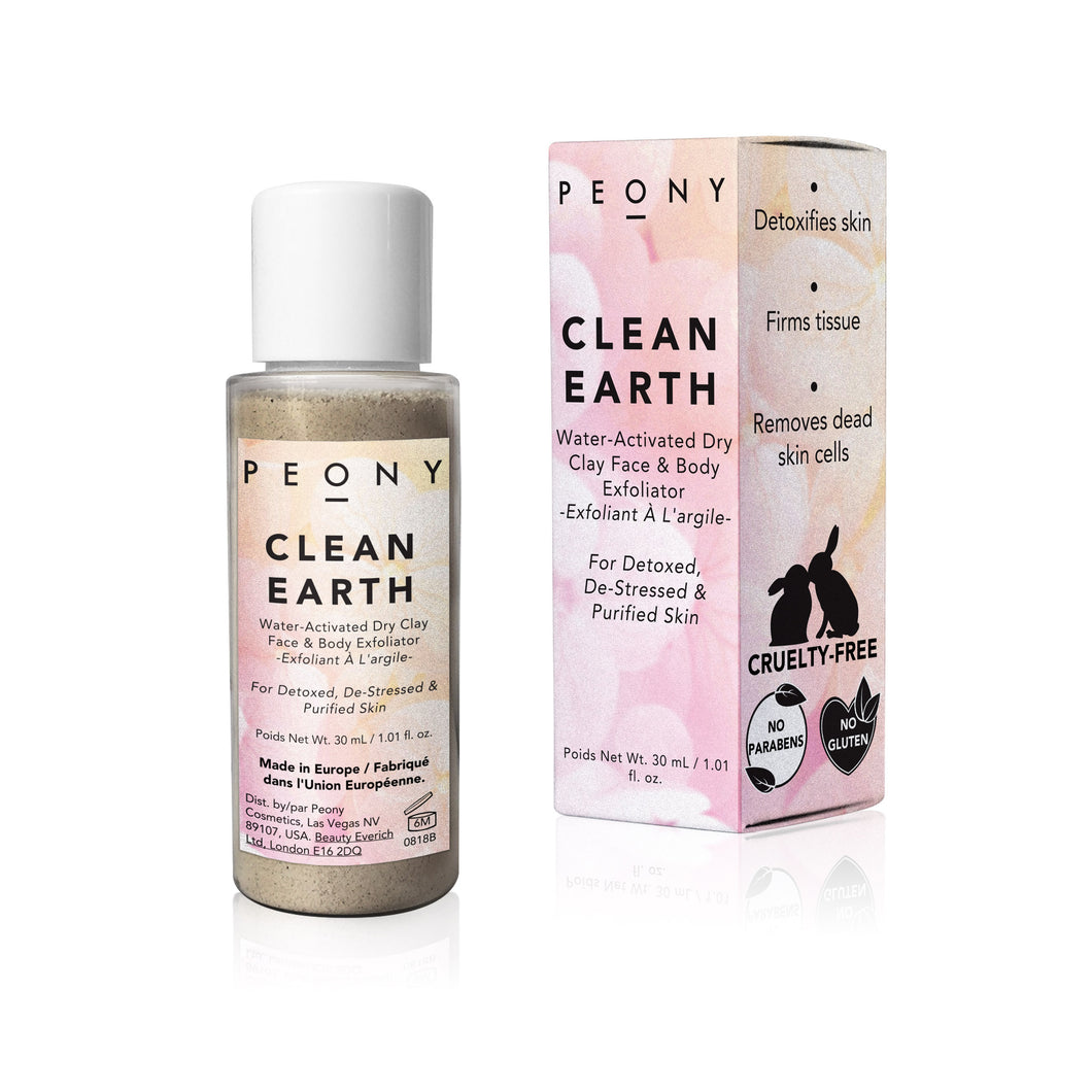 Clean Earth - Water-Activated Dry Clay Face & Body Exfoliator - Nourish Beauty Box
