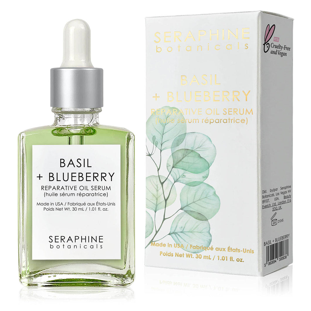 Basil + Blueberry - Reparative Oil Serum
