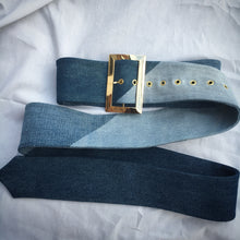 OVERSIZED  DENIM PATCHWORK BELT