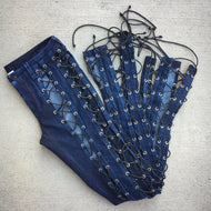 panorama lace up jeans