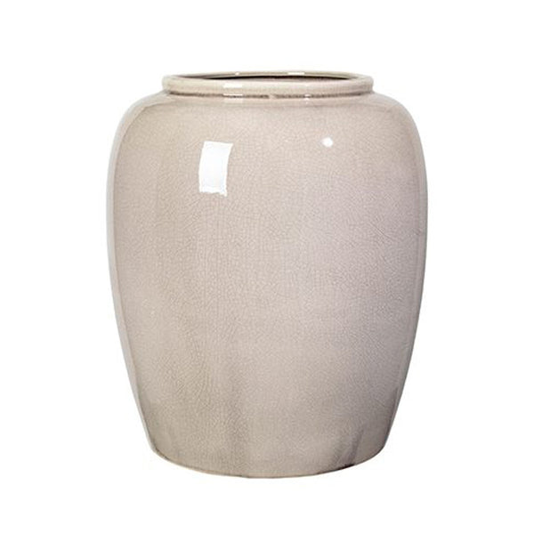 Broste Copenhagen - VASE 'CRACKLE' CERAMIC - RAINY DAY, H 36CM