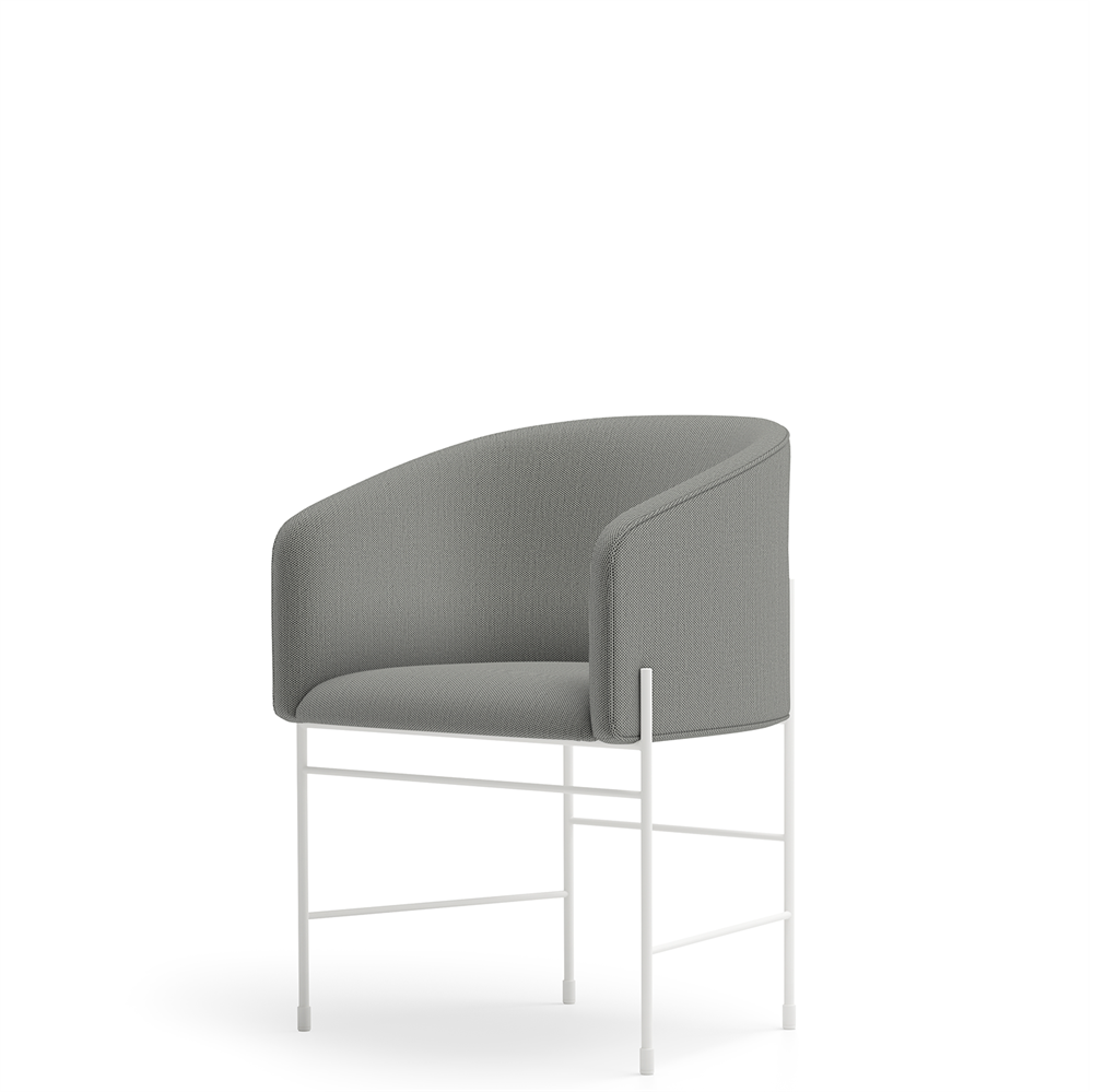 New Works - Spisebordsstol - Covent Dining Chair - Basel (129), Hvidt stel