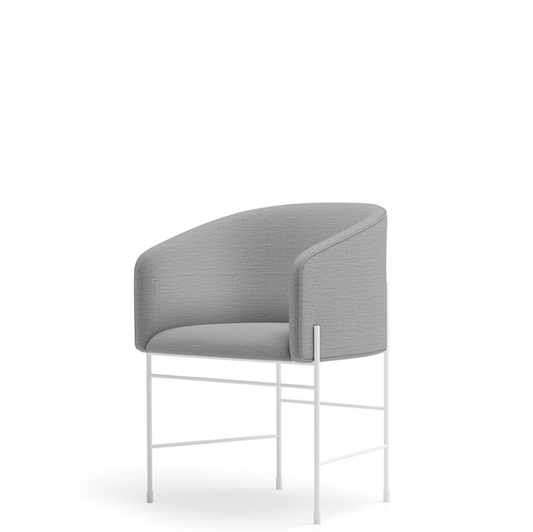 New Works - Spisebordsstol - Covent Dining Chair - Light Grey, Floyd 123, Hvidt stel