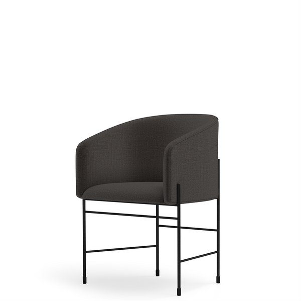 New Works - Spisebordsstol - Covent Dining Chair - Kvadrat, Floyd (193), Sort stel
