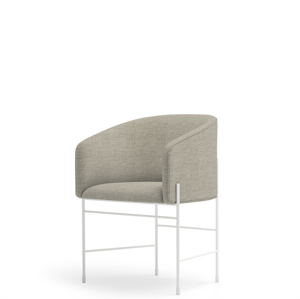 New Works - Spisebordsstol - Covent Dining Chair - Kvadrat, Outback (221), Hvidt Stel
