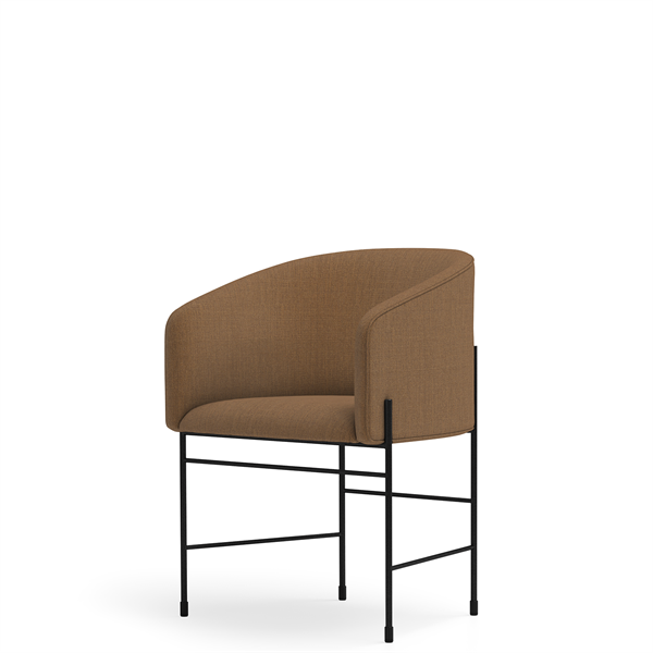 New Works - Spisebordsstol - Covent Dining Chair - Kvadrat (433), Sort stel