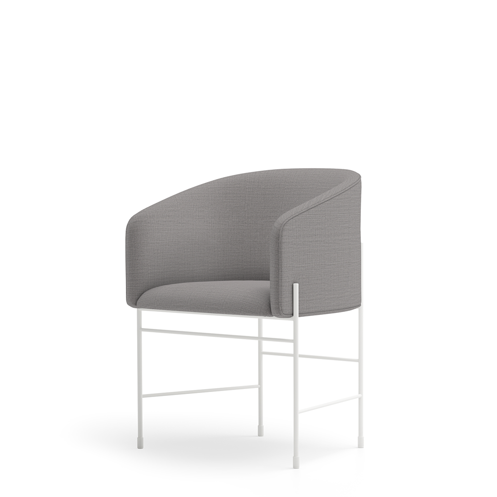 New Works - Spisebordsstol - Covent Dining Chair - White Grey, Umami 111, Hvid stel