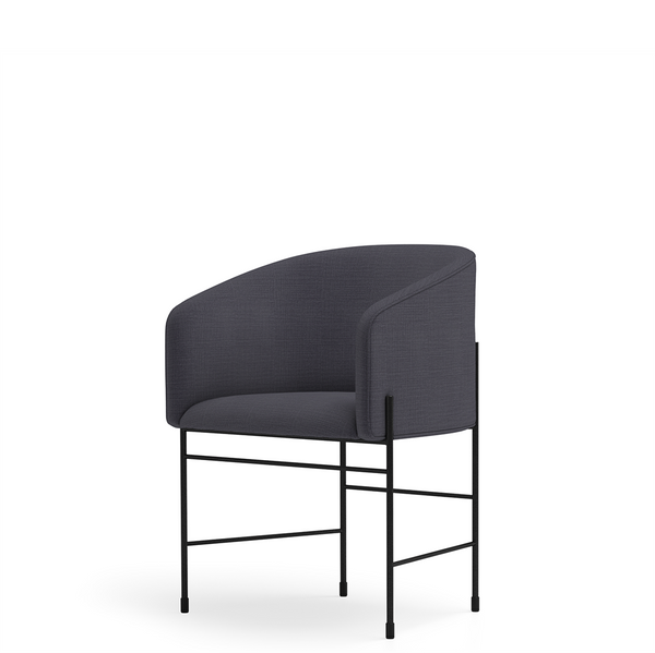 New Works - Spisebordsstol - Covent Dining Chair - Black Blue, Umami 191, Sort stel