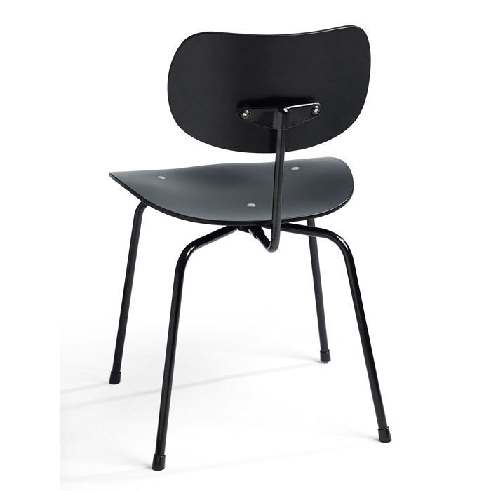 Please wait to be seated - Spisebordsstol - Dining chair SE68, Sort med sort stel