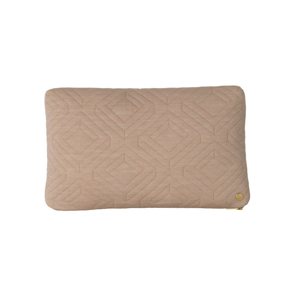 Ferm living - Pude - Quilt cushion, camel