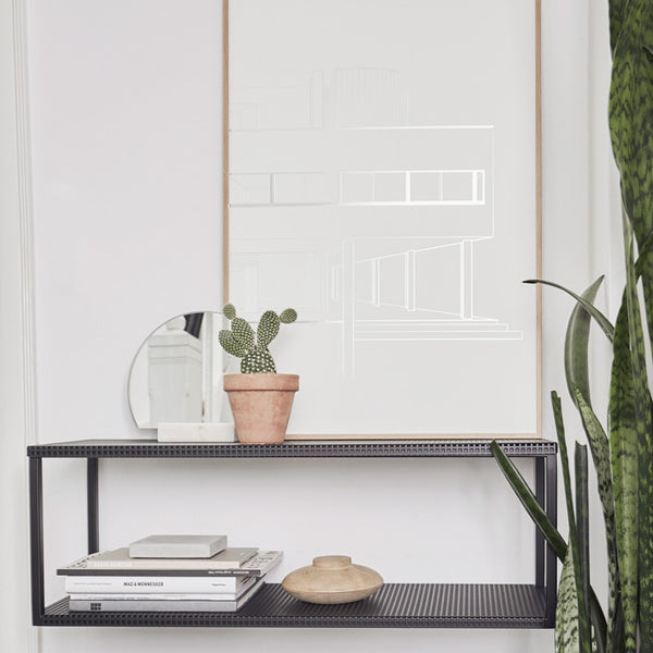 Kristina Dam Studio - Hylde - Grid Wall Shelf, sort