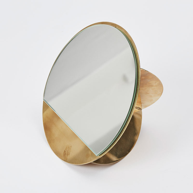 Kristina Dam studio messing bordspejl Mirror sculpture