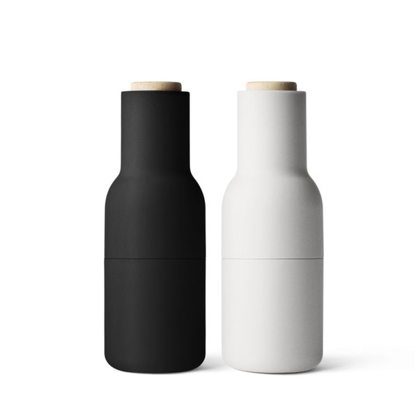 Menu - salt og peberkværn - Bottle grinder, Ash / Carbon 2-Pack
