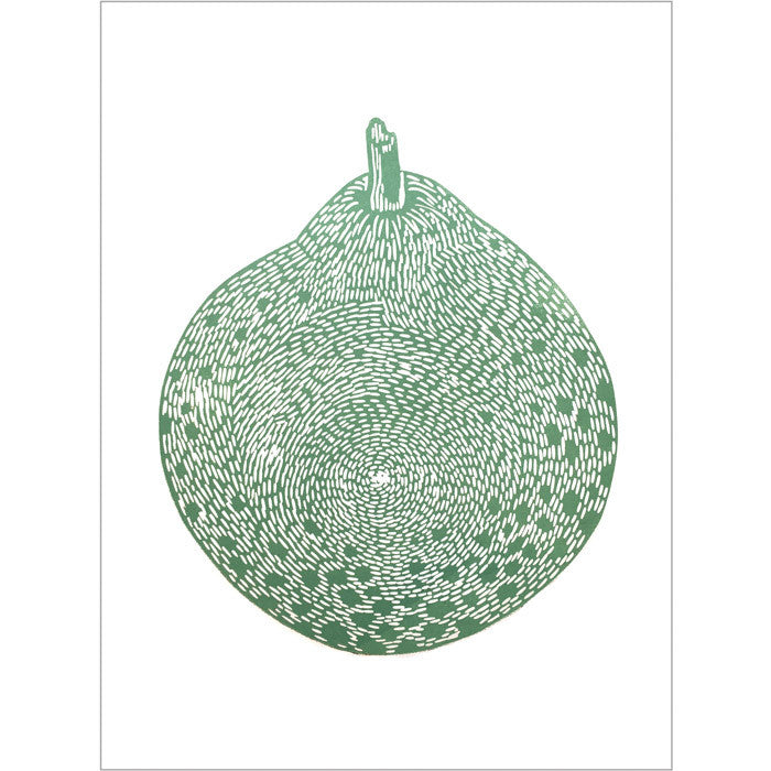 Monika Petersen - Lino print - Round pear, A3