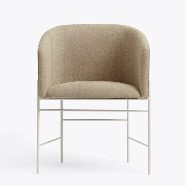 New works - Spisebordsstol - Covent dining chair (sand farvet) hvidt stel