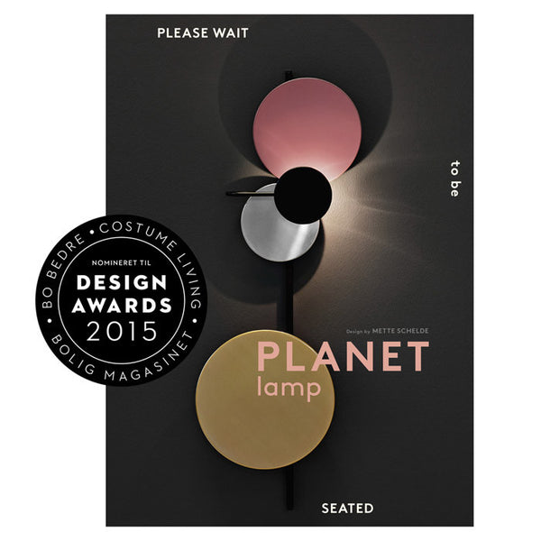 Please wait to be seated - Planet Lamp, Indian red Design awards 2015