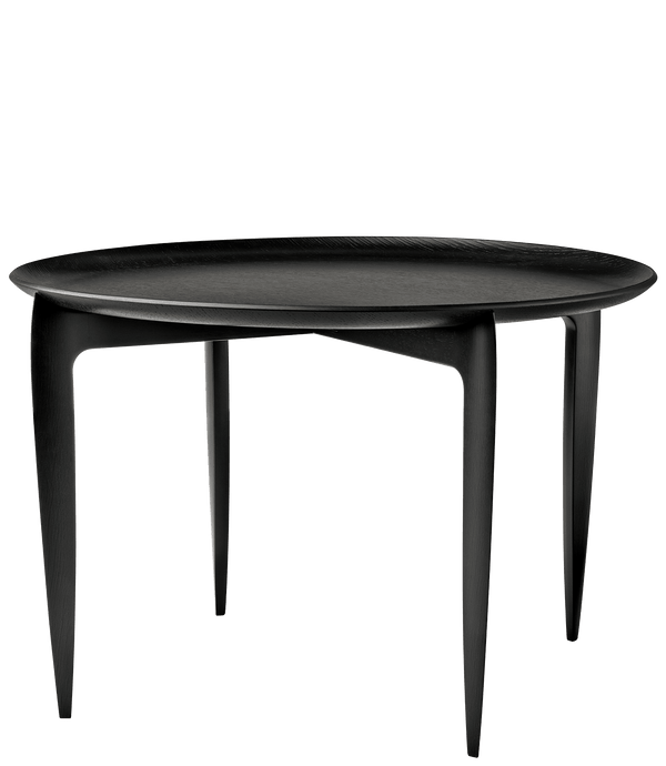 Fritz Hansen - TRAY TABLE, sort - Ø60