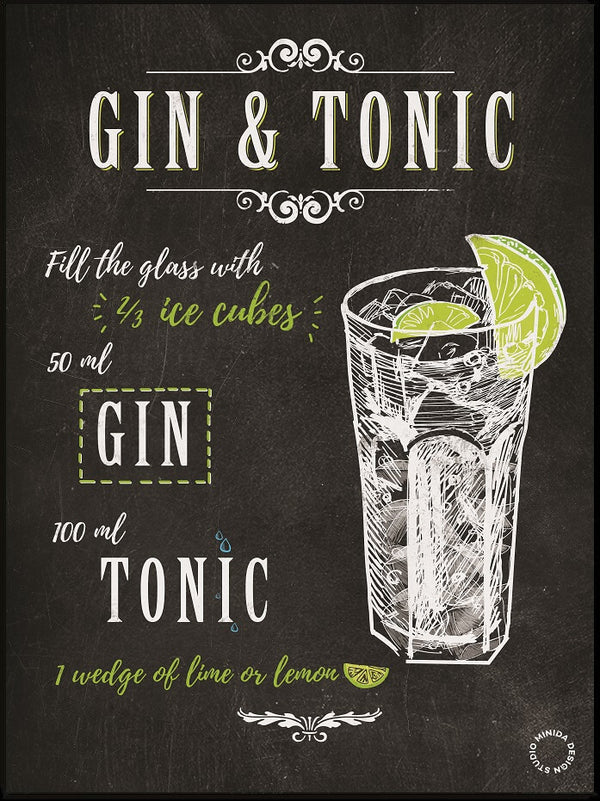Plakat - Gin and Tonic - Minida
