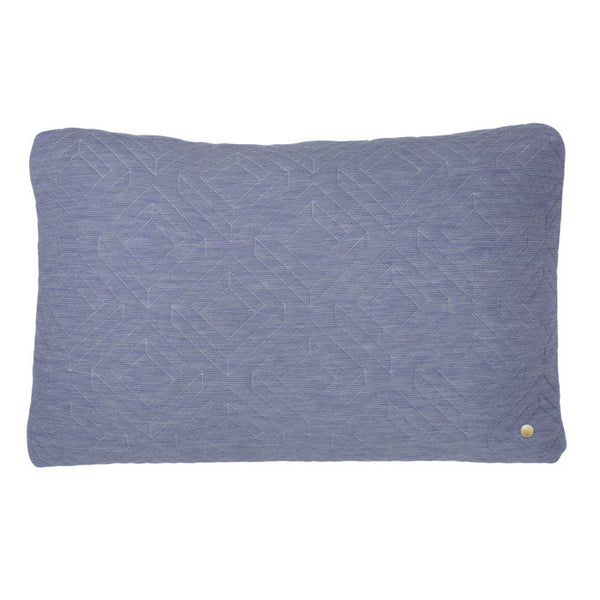 Ferm living Pude lyseblå Quilt cushion