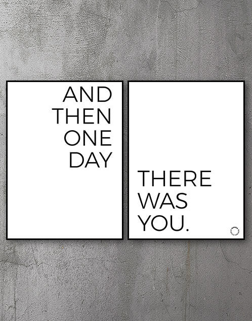 Plakatsæt - And Then There Was You - Minida