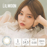 Lilmoon Monthly WATER WATER 水藍褐金 (月拋) 0度