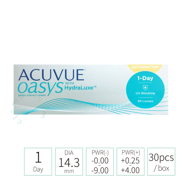 1-day OASYS with HyraLuxe for Astigmatism 散光 (近視/遠視)