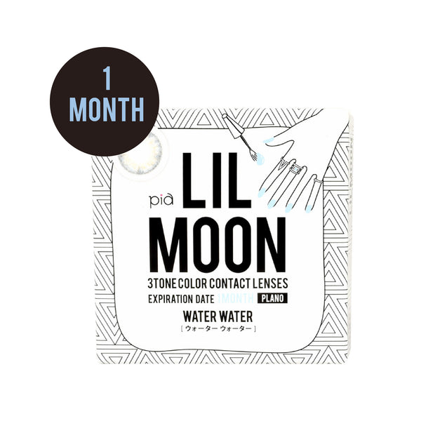 Lilmoon Monthly WATER WATER 水藍褐金 (月拋)  有度數