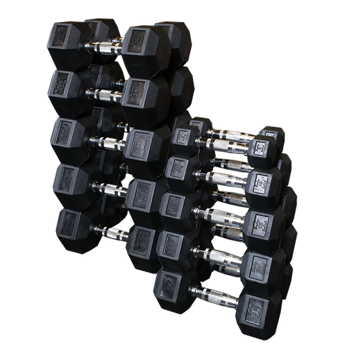 Body-Solid Rubber-Coated Hex Dumbbell