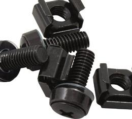 Hypertec M6 Cage Nut Screws Black Pack 40