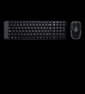 Logitech MK220 Wireless Keyboard & Mouse Combo Much smaller design, same keys 2.4 GHz 128-bit AES encryption Fewer battery hassles - 920-003235