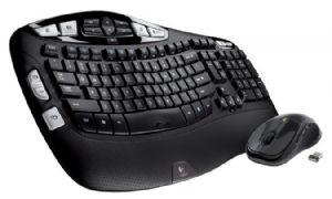 Logitech MK550 Wireless Wave Keyboard Mouse Combo Black Wave-shaped key frame Cushioned, Hand-friendly, Strong batteries - 920-002555/920-003733
