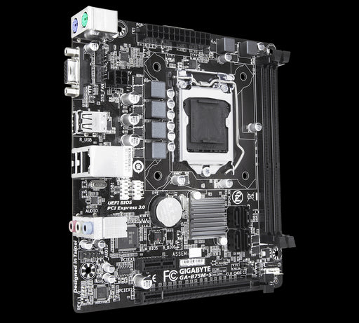 Gigabyte GA-B75M-S mATX MB LGA1155 2xDDR3 VGA 2xPCIe GbE LAN 4xSATA3 8xUSB2 2xPS2 Unique On/Off Charge Intel HD Graphics 3000 (~GA-B75M-D3H)