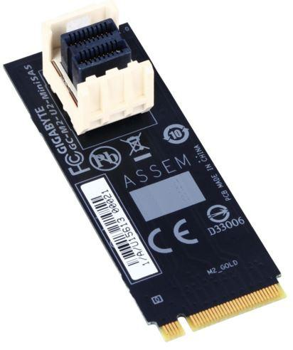 "Gigabyte M2-U2-MINISAS M.2 to U.2 Mini SAS Add-on Card Adapter for Intel 2.5"" SSD NVMe PCIe 3.0 Gen3x4 SFF-8639"