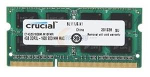 Crucial 4GB (1x4GB) DDR3 1600 for MAC SODIMM 1.35V