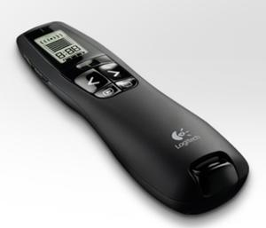 Logitech R700 Professional Wireless Presenter, LCD display 30m Range, 2.4GHz Instuitive slideshow controls - 910-003508