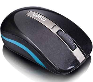 RAPOO 6610 Bluetooth & Wireless Dual Mode Optical Mouse - 1000DPI Nano Receiver 9m Battery Life