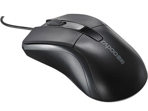 RAPOO N1162 Wired Optical Mouse Black - 1000DPI USB