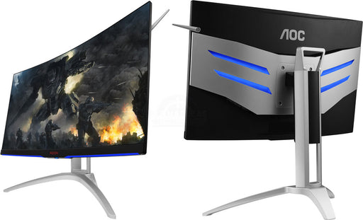 "AOC AGON 31.5"" VA 4ms 144Hz 2560x1440 Ultra-Thin FreeSync Curved Gaming Monitor w/HAS - HDMI/2xDP/VGA VESA100mm Speaker Height Adjust"