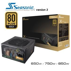 Seasonic 750W 80+ Gold Semi-Modular 120mm FAN ATX PSU 7 Years Warranty (LS)