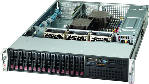 "Supermicro 2U DP E5-2600v2 Bar 16x 2.5"" Hswap/16x DDR3/2xGbE/"