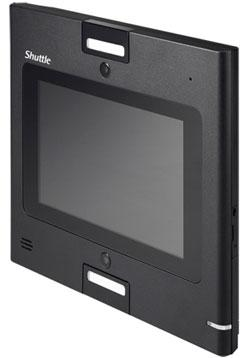 "Shuttle Recognition Barebone - 7"" Touch, Celeron 1037U, 2GB RAM, 32GB SSD, NIC, HDMI, Dual CAM, Dual Webcam"